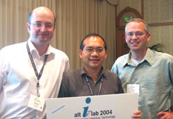 David Davies, Raymond Yee and David Wiley at alt-i-lab 2004