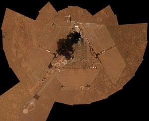 NASA Opportunity rover selfie